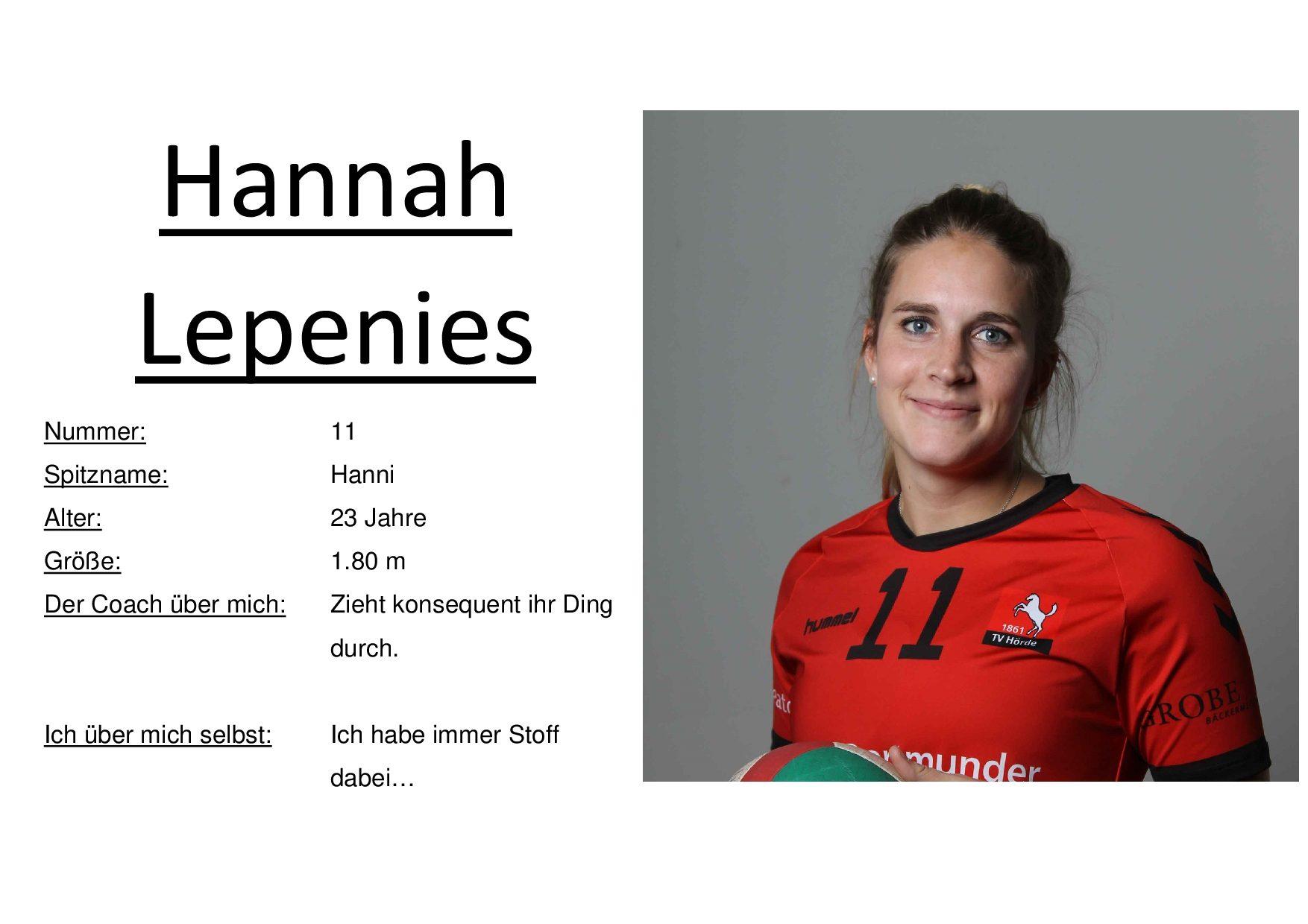 Hannah Lepenies