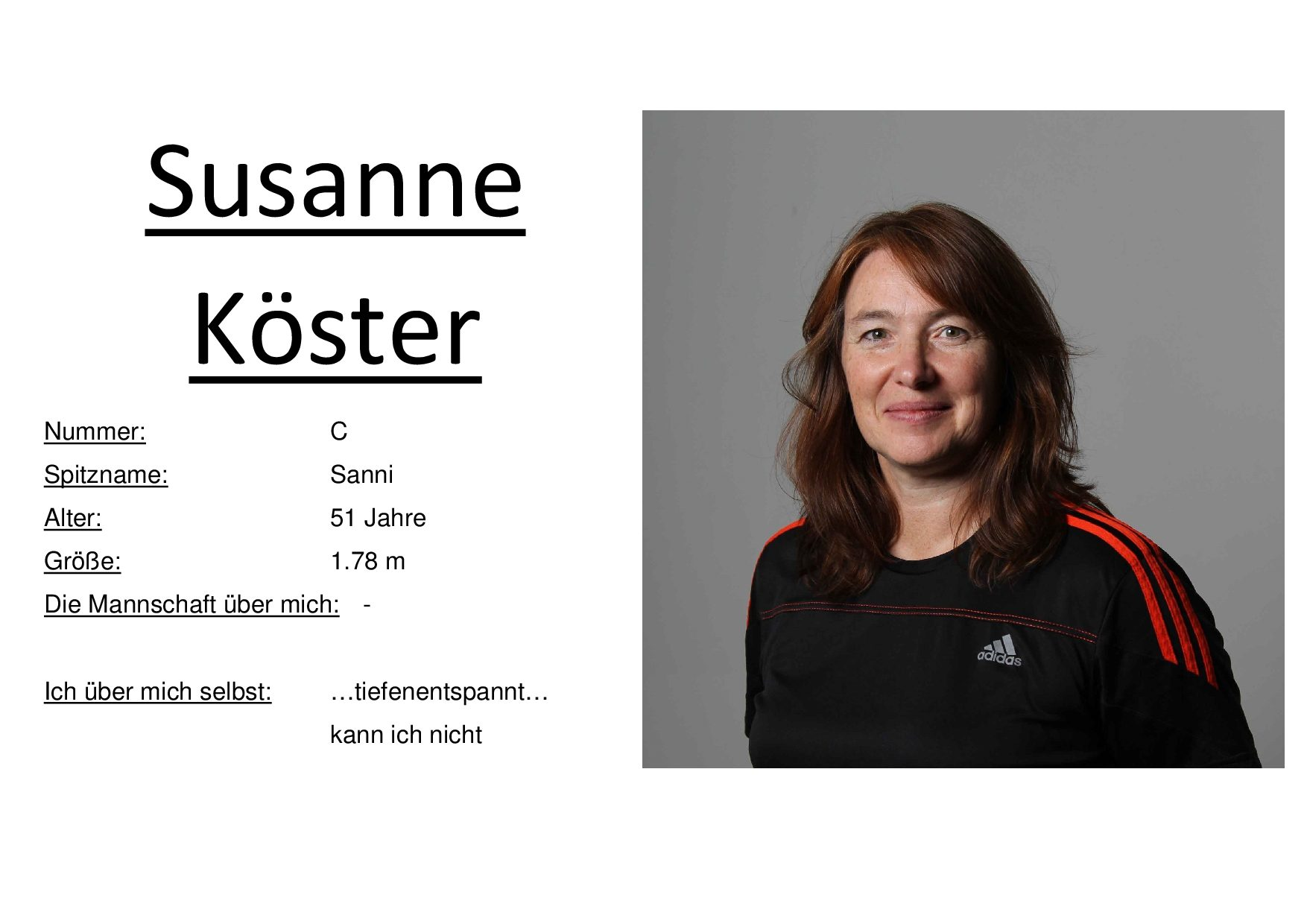 Susanne Köster(Coach)